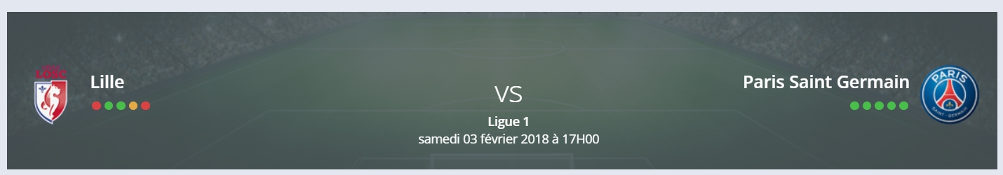 Pas de surprise sur le pronostic lille psg Ligue 1!